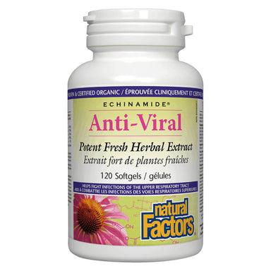 Bottle of Echinamide® Anti-Viral Herbal Extract 120 Softgels