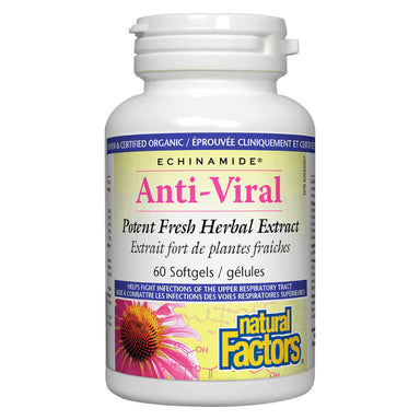 Bottle of Echinamide® Anti-Viral Herbal Extract 60 Softgels