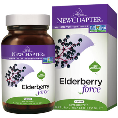 Box & Bottle of New Chapter Elderberry Force