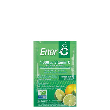 Packet of Ener-C Multivitamin Drink Mix (Lemon Lime)