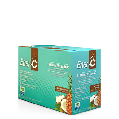 Box of Ener-C Multivitamin Drink Mix (Pineapple Coconut) 30 Packets
