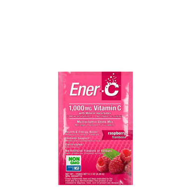 Packet of Ener-C Multivitamin Drink Mix (Raspberry)