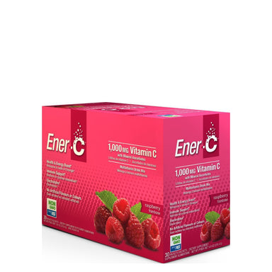Box of Ener-C Multivitamin Drink Mix (Raspberry) 30 Packets