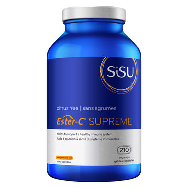 Bottle of Sisu Ester-C Supreme 210 Vegetable Capsules