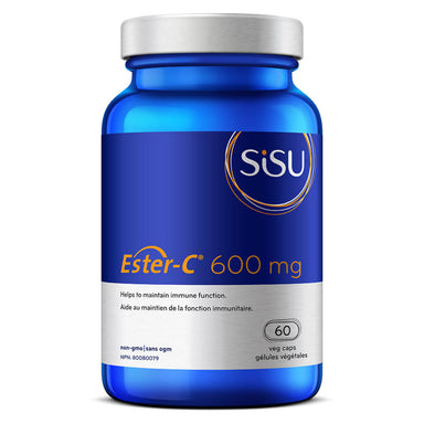 Bottle of Ester-C 600 mg 60 Vegetable Capsules