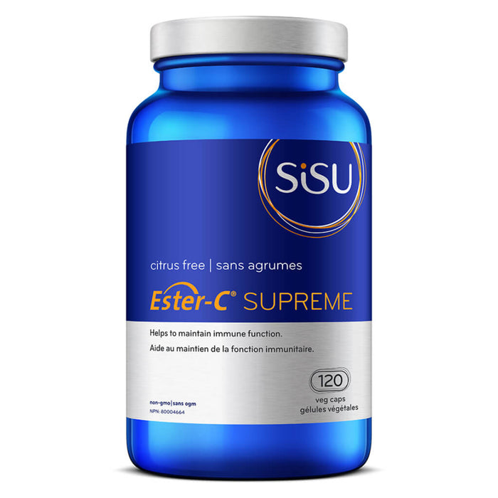 Bottle of Ester-C Supreme 120 Vegetable Capsules