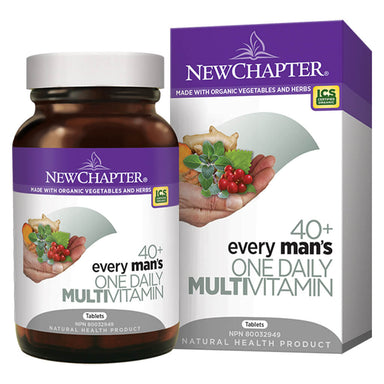 Bottle & Box of New Chapter Every Man's One Daily Multivitamin