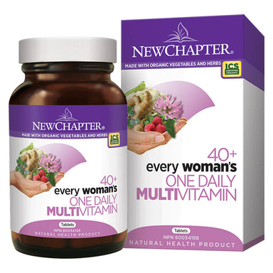 Bottle & Box of New Chapter Every Woman's One Daily Multivitamin 40+