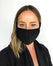 Woman wearing Civil 100% Polyester Triple Layer Reusable Civilian Face Mask