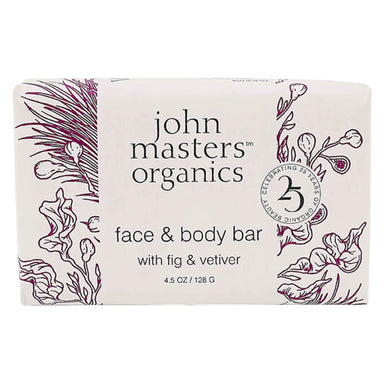John Master's Organics - Face & Body Bar with Fig & Vetiver 4.5 Ounces 128 Grams | Optimum Health Vitamins, Canada