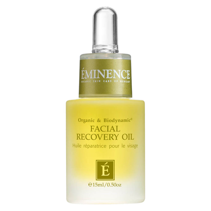 Dropper Bottle of Eminence Facial Recovery Oil 15 Milliliters