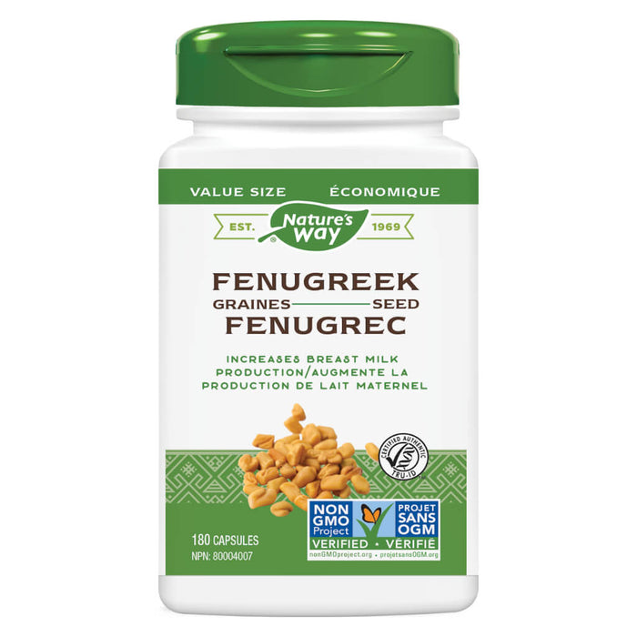 Bottle of Nature's Way Fenugreek Seed 180 Capsules
