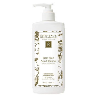 Pump Bottle of Eminence Firm Skin Acai Cleanser 250 Milliliters