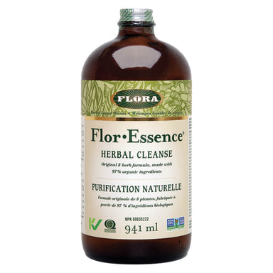 Bottle of Flor-Essence Herbal Cleanse 941 Milliliters