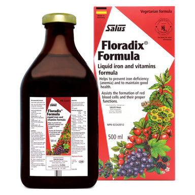 Box & Bottle of Floradix Formula 500 Milliliters