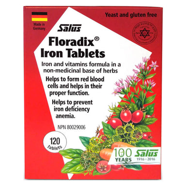 Box of Floradix Iron 120 Tablets