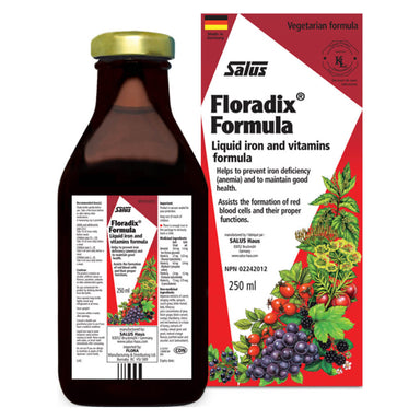 Box & Bottle of Floradix Formula 250 Milliliters