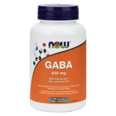 Bottle of GABA 500 mg w/ Vitamin B-6 100 Vegetable Capsules