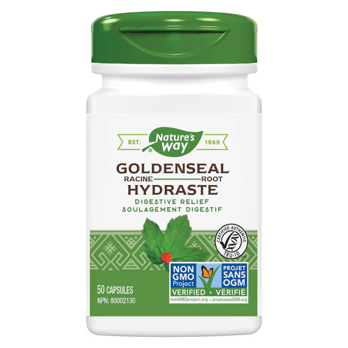 Bottle of Nature's Way Goldenseal Root 50 Capsules