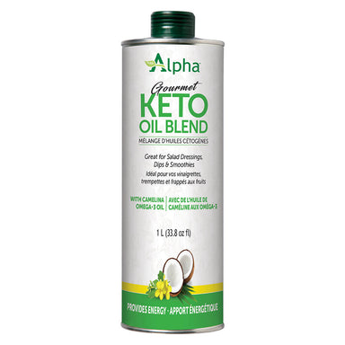 Can of Alpha Health Gourmet Keto Oil Blend 1 L