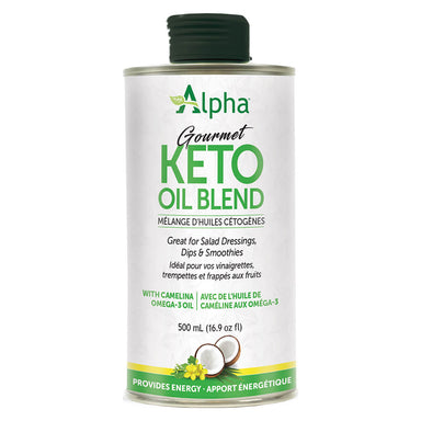 Can of Alpha Health Gourmet Keto Oil Blend 500 mL