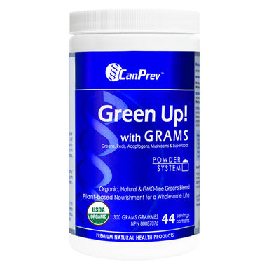 Container of CanPrev Green Up Powder 300 Grams
