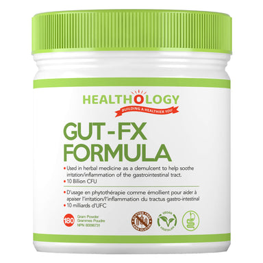 Container of Healthology Gut-FX Formula 180 Grams