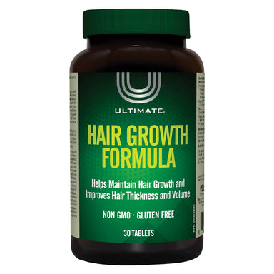 Bottle of Ultimate Hair Growth Formula 30 Tablets