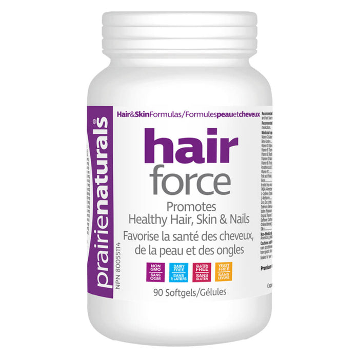 Bottle of Hair Force 90 Softgels