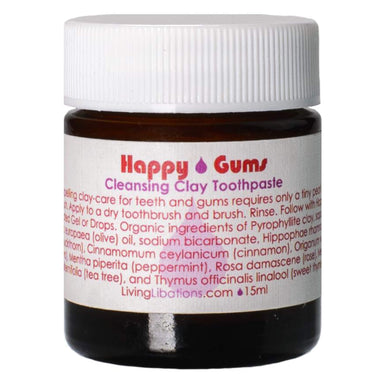 Jar of Living Libations Happy Gums Cleansing Clay Toothpaste 15 Milliliters