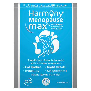 Box of Harmony Menopause Max 60 Tablets