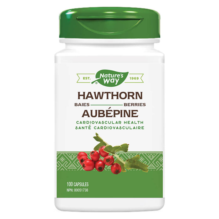 Bottle of Hawthorn Berries 100 Capsules