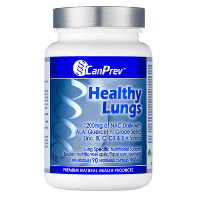 Bottle of Healthy Lungs 90 Vegetable Capsules
