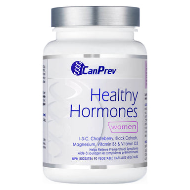 Bottle of CanPrev Healthy Hormones for Women 60 Vegetable Capsules