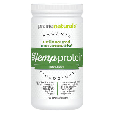 Container of Organic Hemp Protein Unflavoured 400 Grams