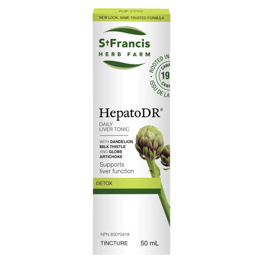 Box of St. Francis Herb Farm HepatoDR Tincture 50 Milliliters