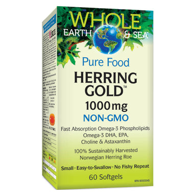 Box of Herring Gold 1000 mg 60 Softgels
