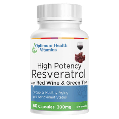 Bottle of High Potency Resveratrol 60 Capsules