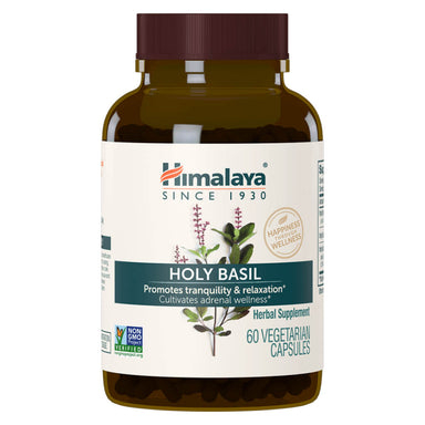 Bottle of Holy Basil 60 Vegetable Capsules
