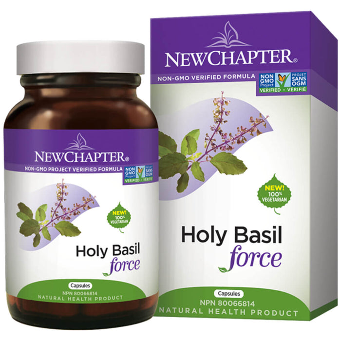 Container of Holy Basil Force Vegetarian Capsules