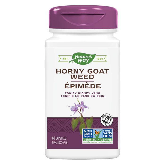 Bottle of Nature's Way Horny Goat Weed 60 Capsules
