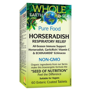 Box of Horseradish Respiratory Relief 60 Enteric-Coated Tablets