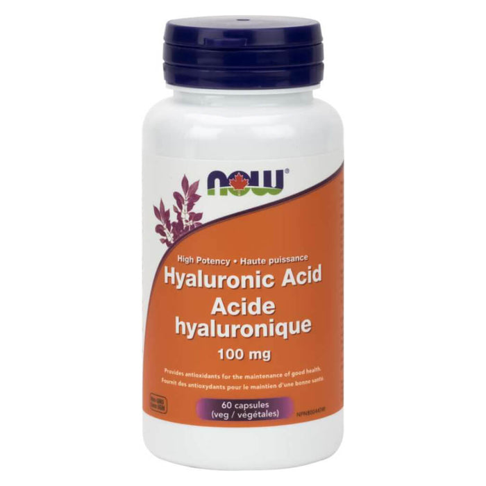 Bottle of Hyaluronic Acid 100 mg 60 Vegetable Capsules