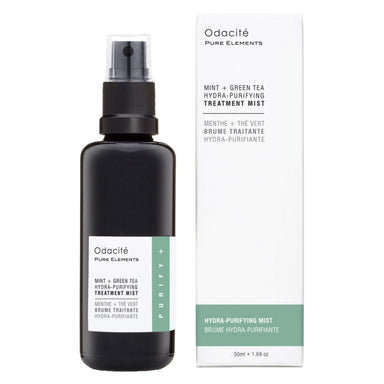 Box and Spray Bottle of Odacite Hydra-Purifying Treatment Mist (Mint + Green Tea) 50 Milliliters