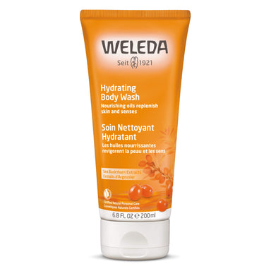 Bottle of Weleda Hydrating Body Wash - Sea Buckthorn 6.8 Ounces