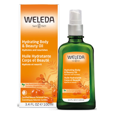 Pump Bottle of Weleda Hydrating Body & Beauty Oil - Sea Buckthorn 3.4 Ounces