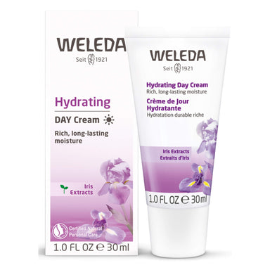 Bottle of Weleda Hydrating Day Cream - Iris 30 Milliliters