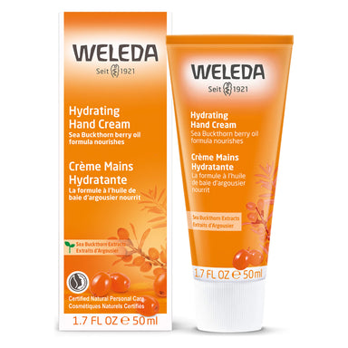 Bottle of Weleda Hydrating Hand Cream - Sea Buckthorn 1.7 Ounces