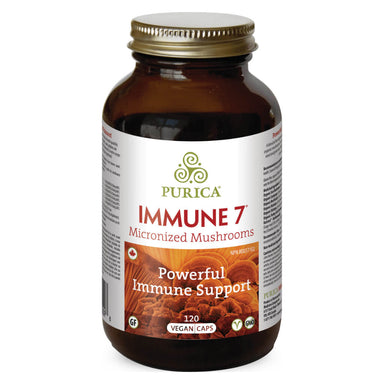Bottle of Immune 7 Micronized Mushrooms 120 Vegan Capsules