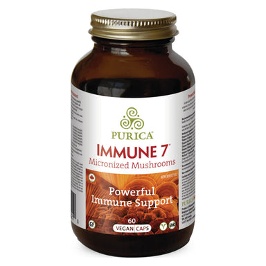 Bottle of Immune 7 Micronized Mushrooms 60 Vegan Capsules